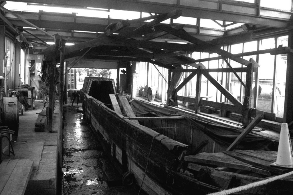 NB Hardy in the dry dock
